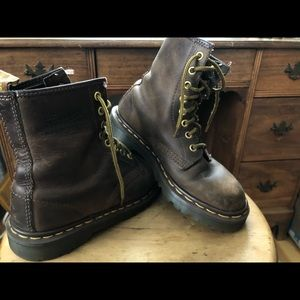Authentic Brown Dr. Martens with new inserts!!!